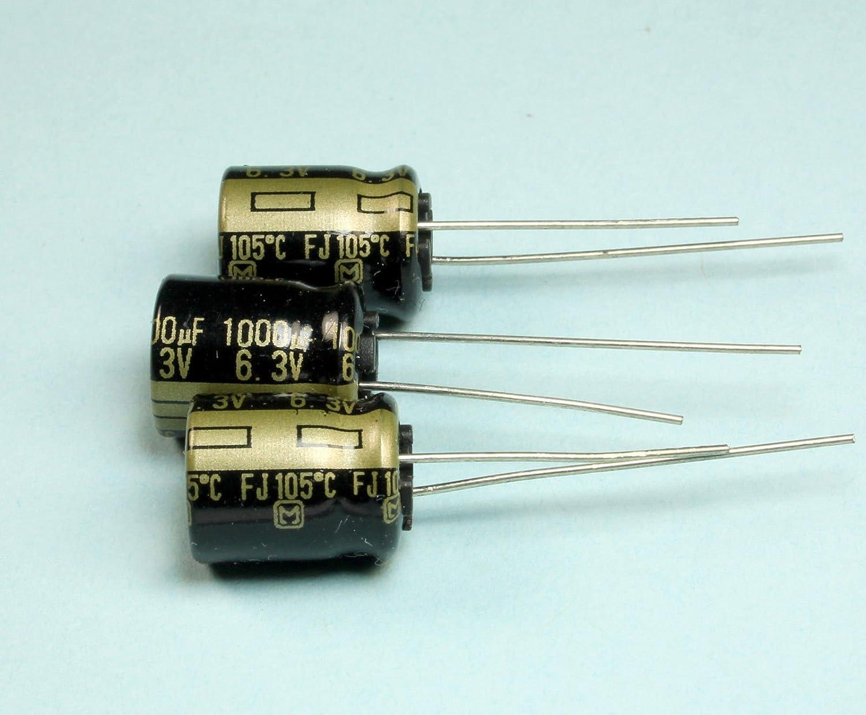 Lot of 5 Low ESR Electrolytic Capacitor 1000uF 6.3V 105