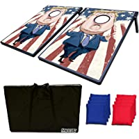 Festival Depot All-Weather Cornhole Bean Bags(Set of 8) or 3'x2' Cornhole 2 Boards -Regulation Size & Weight -Duck Cloth Canvas Corn Hole Bags Tossing Game