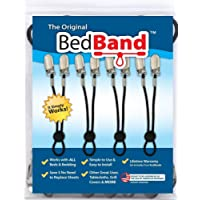 The ORIGINAL Bed Band - Adjustable Fastener/Holder/Strap/Suspender/Gripper for Your Sheets (2 Pack - Black)
