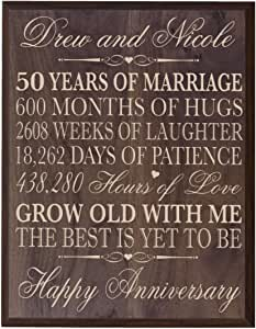 Amazon.com - LifeSong Milestones Personalized 50th Wedding ...