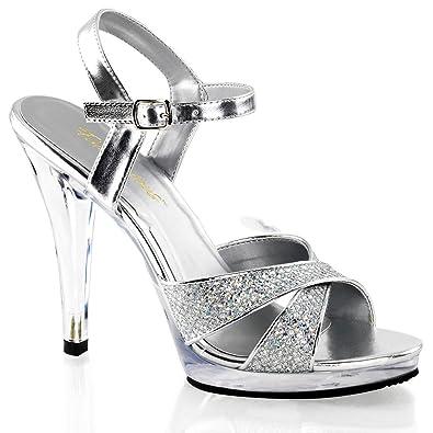 bdadb06f4ba127 Fabulicious Flair-419G - sexy High Heels Mini-Plateau Sandaletten 35 ...