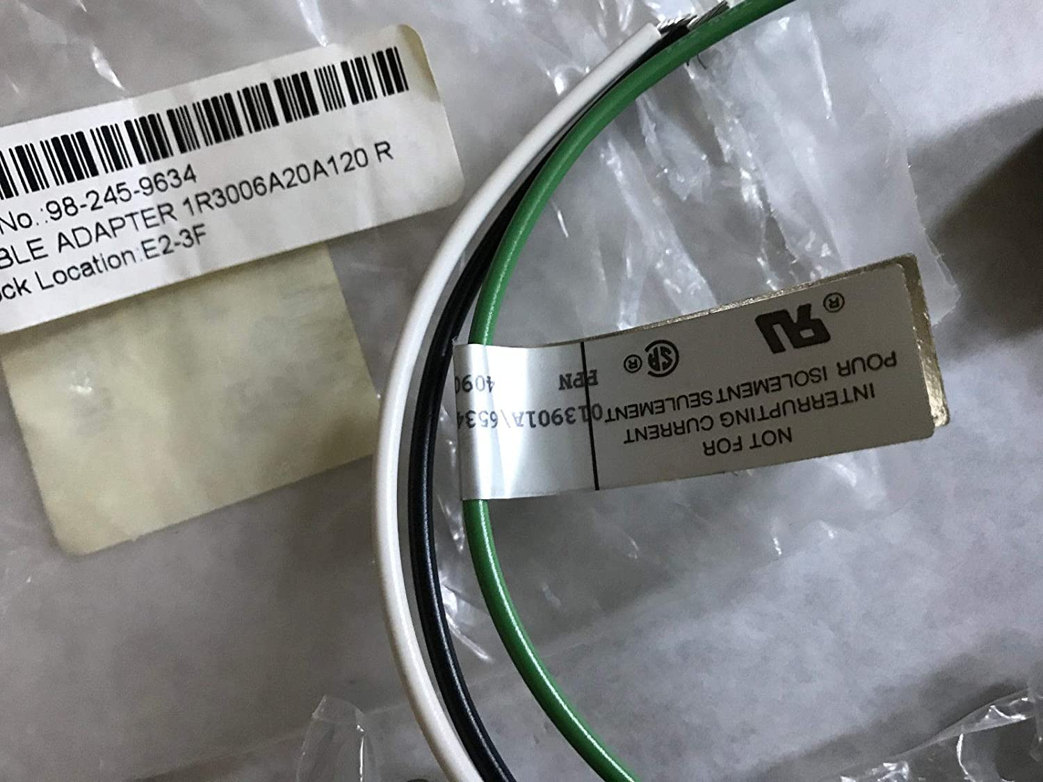 LOT 5 BRAD HARRISON 1R3006A20A120,CABLE ADAPTER 1R3006A20A120#16AWG PVC 13,ES