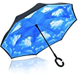 Reverse Folding Umbrella – Windproof & UV Protection - Inverted Umbrella with Free Carrying Bag