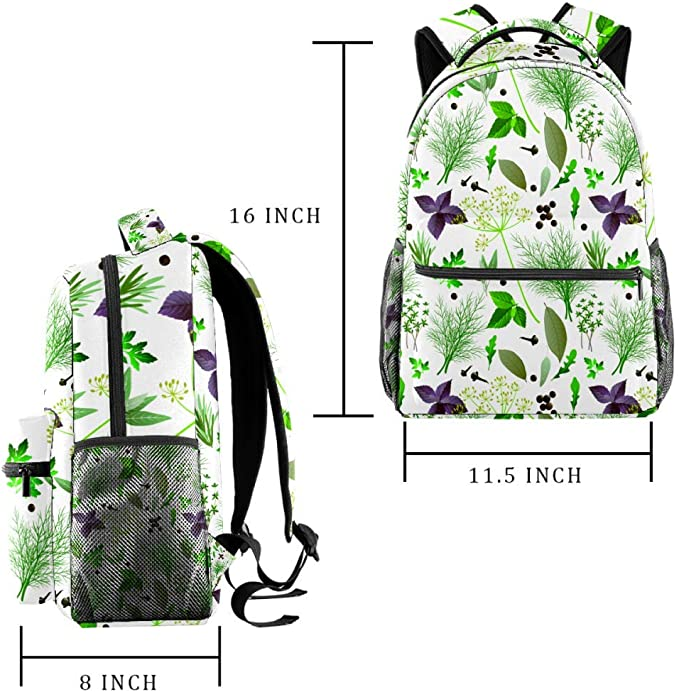 School Backpacks 16 Inch Student Bookbag Travel Basic Daypack Laptop Bag Background With Rabbits And Kittens