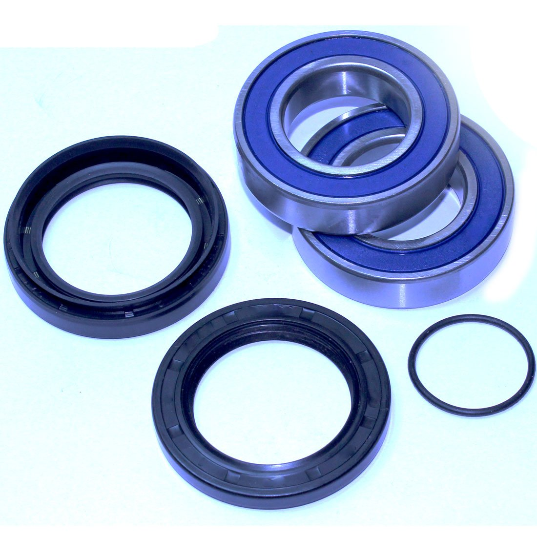 Caltric FRONT WHEEL BALL BEARINGS & SEALS KIT Fits YAMAHA GRIZZLY 350 YFM350 2WD 2007-2011 2014