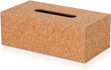 Möve Caja pañuelos, Loza con Corcho, Cork, 26 x 14 x 9,5 cm ...