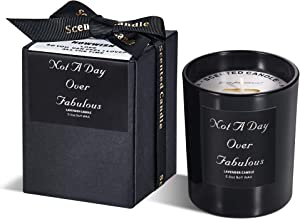 Lavender Scented Candles- Not a Day Over Fabulous-Birthday Gifts for Women,Gifts Ideas for Her,Best Friends,Mom,Grandma,Daughter,Wife