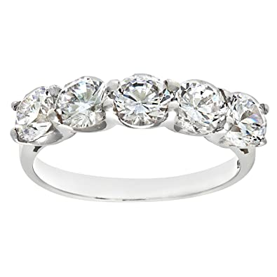 kellinsilver white bands eternity from ring gold cz heart band com