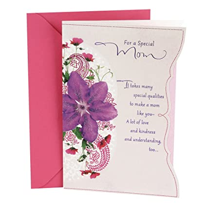 Amazon Hallmark Birthday Card For Mom Purple Flower Office Products