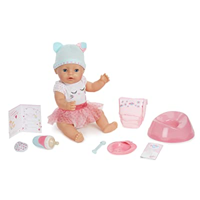 Baby Born Blue Eyes Interactive Doll: Toys & Games