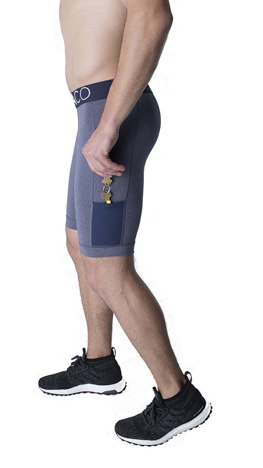 """North Moore Compression Shorts 9/"""" Inseam Made in America Compact Sports Activewear"""