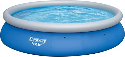 Bestway Fast Set Pool 457 x 84 cm, Hinchable Piscina sobre Suelo ...