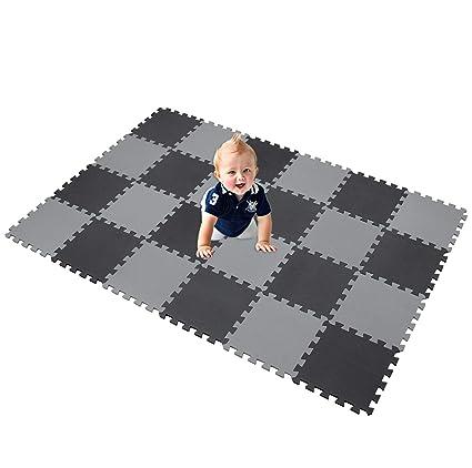 XMTMMD Suelo Para Ninos Y Infantiles EVA Puzzle ColchonetaPara Ninos Y Infantiles EVA Puzzle Colchonetas Puzzle Rompecabezas para cubrir el suelo 24 ...