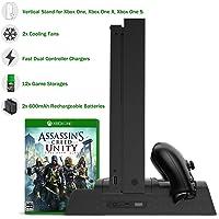 Xbox One / S / X Base Vertical Enfriadora Apoya Juegos DOBE Pro (Negro)