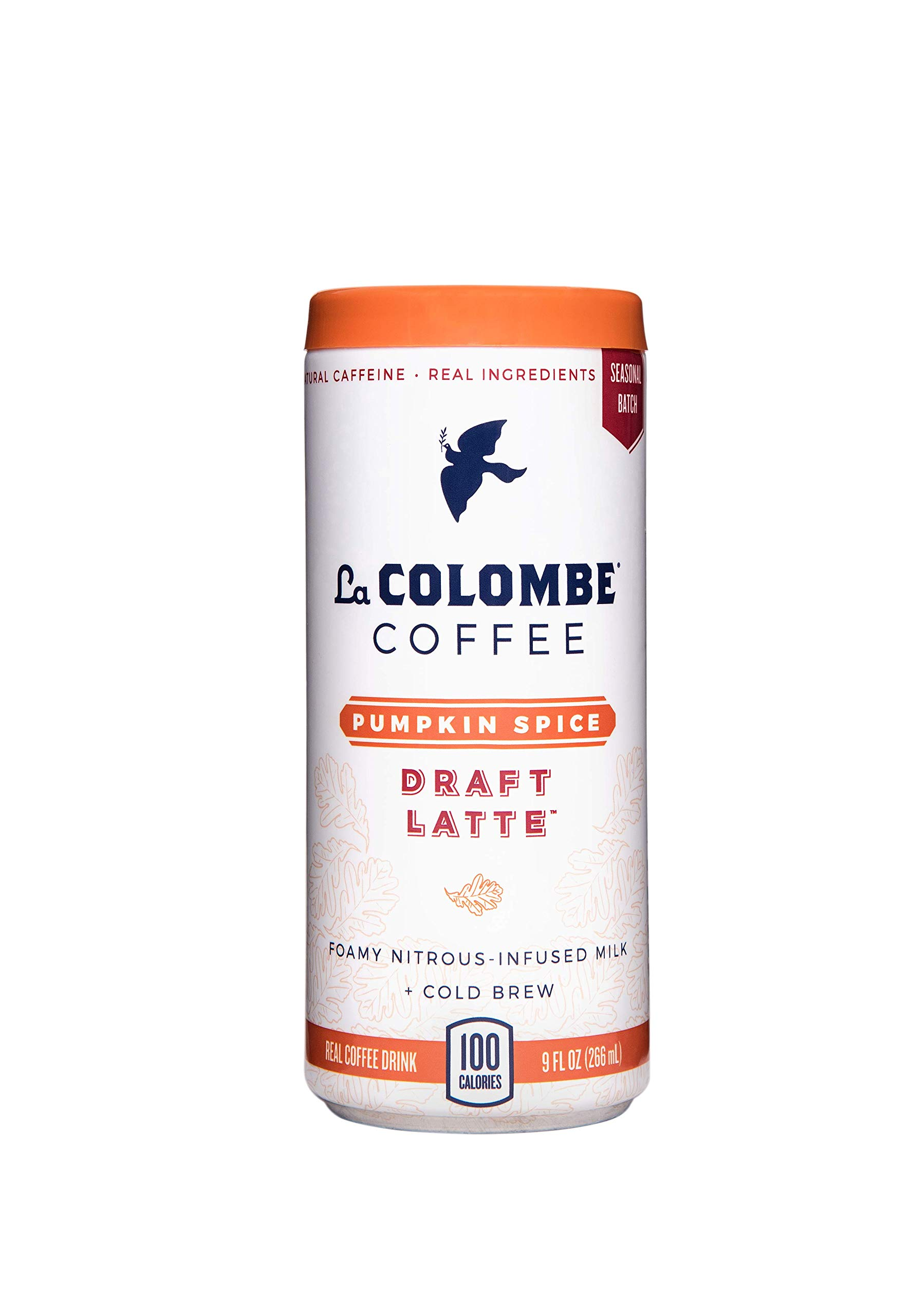 La Colombe Pumpkin Spice Draft Latte - 9 Fluid Ounce, 16 Count - Cold-Pressed Espresso and Frothed Milk + Real Pumpkin - Made With Real Ingredients - Grab And Go Coffee by La Colombe