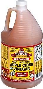 Bragg Organic Raw Apple Cider Vinegar oOEuY, 4Pack (1 Gallon)