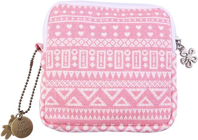 SUPVOX - Bolsa de almacenamiento para servilletas sanitarias, algodón, Rosa, 1 pieza