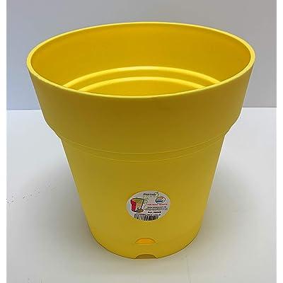 Mintra Home Garden Pots - 8.5inch Round (Yellow): Garden & Outdoor