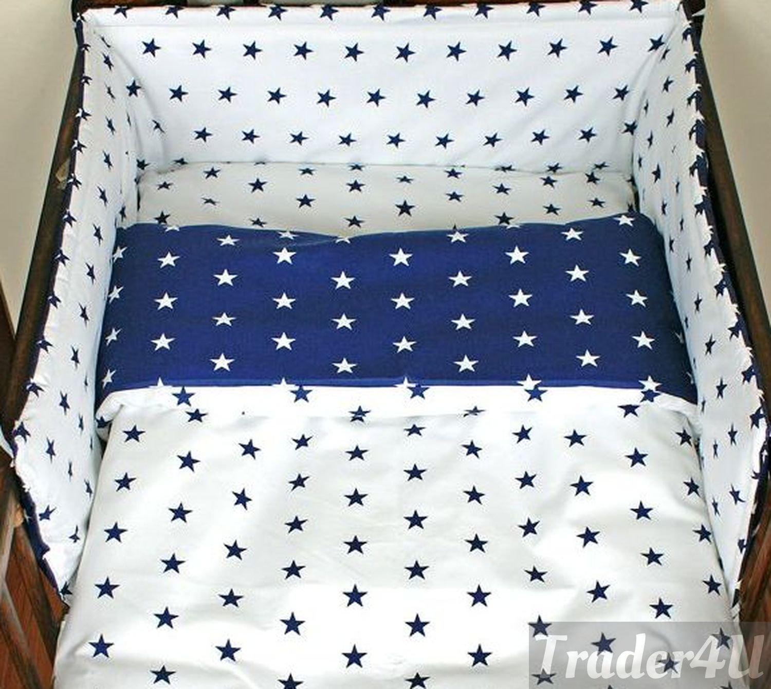 Cot Fitted Sheet Deluxe Baby 100/% Cotton 120x60cm 1x Chevron 1x White Stars