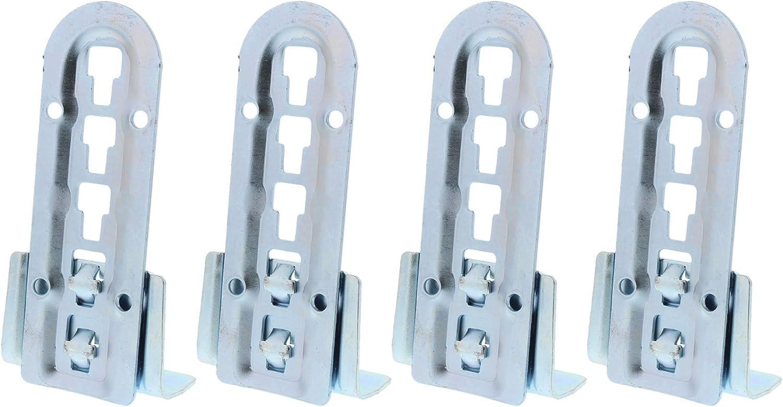 ToniTec - Herraje para cama (140 mm, acero galvanizado, altura regulable, soporte central, 2 piezas)