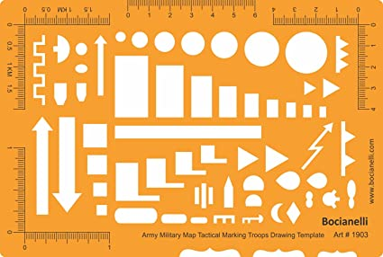 Amazon Nato Army Tactical Military Map Marking Symbols Drawing