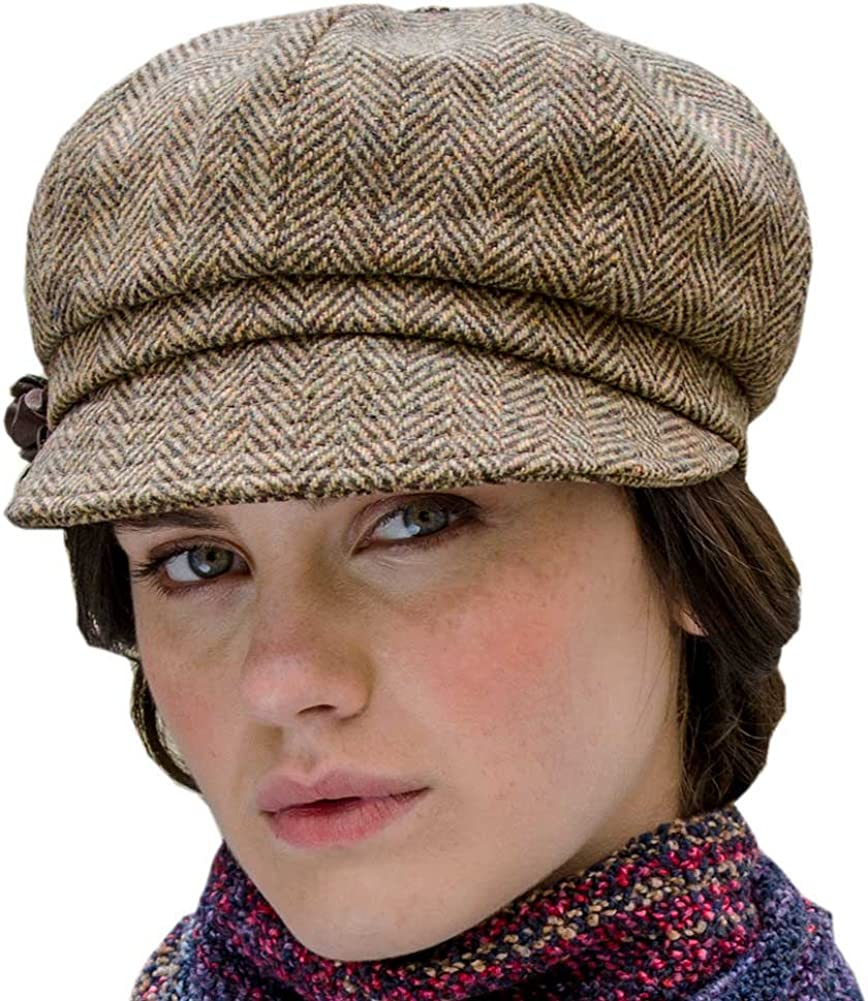 Ladies Newsboy Tweed Hat - One Size, Brown: Amazon.ca: Sports & Outdoors