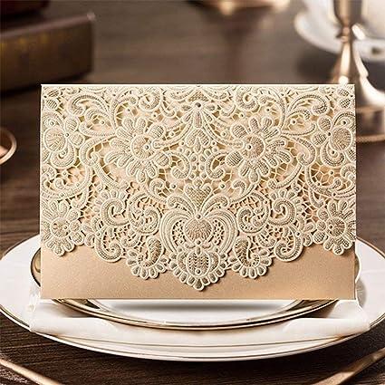 lavinaya 25 pcs corte láser con lazo boda fiesta, bolsas de regalo de bodas Chocolate Candy y cajas de regalo