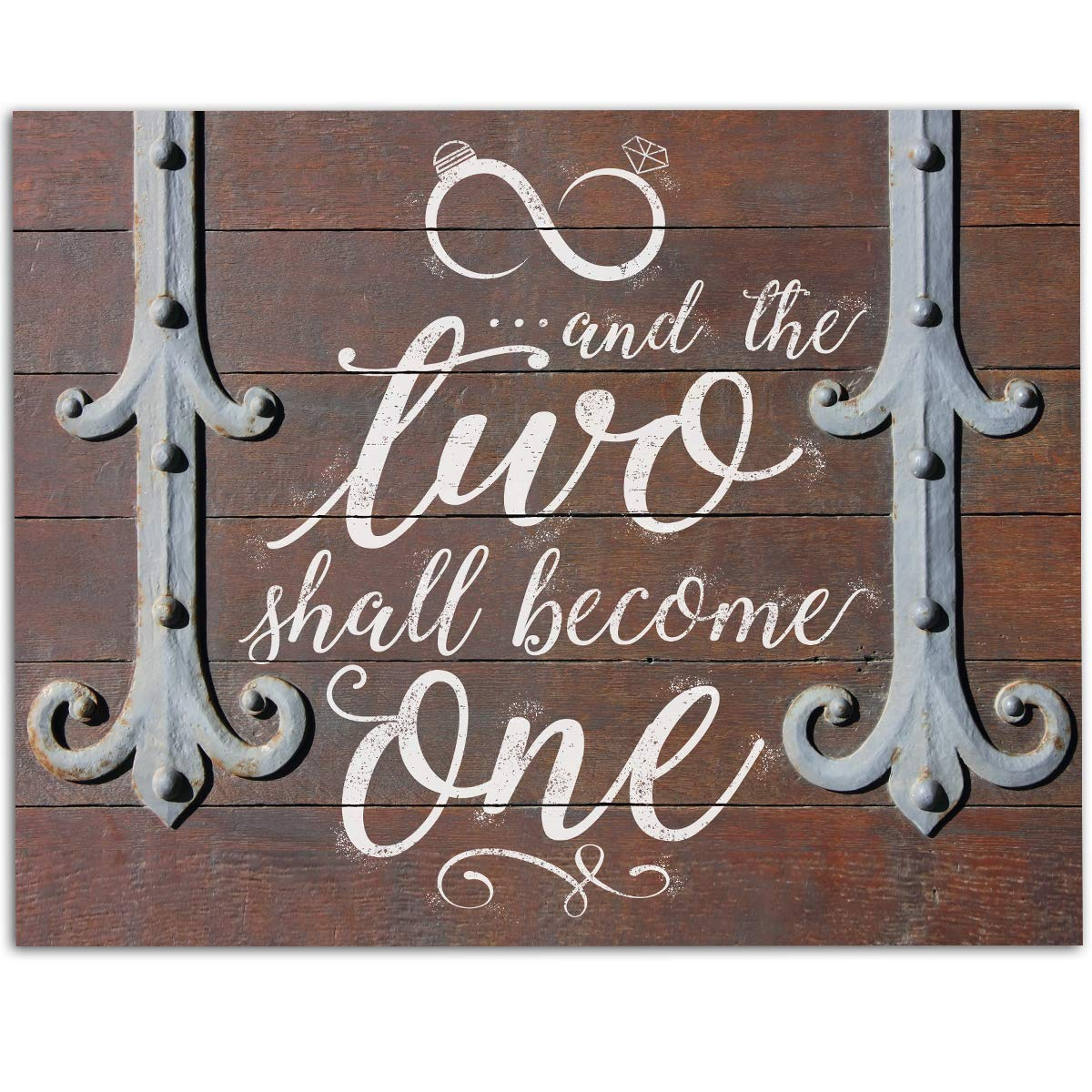 And The Two Shall Become One - 11x14 Unframed Art Print - Great Decor and Wedding Gift Under $15