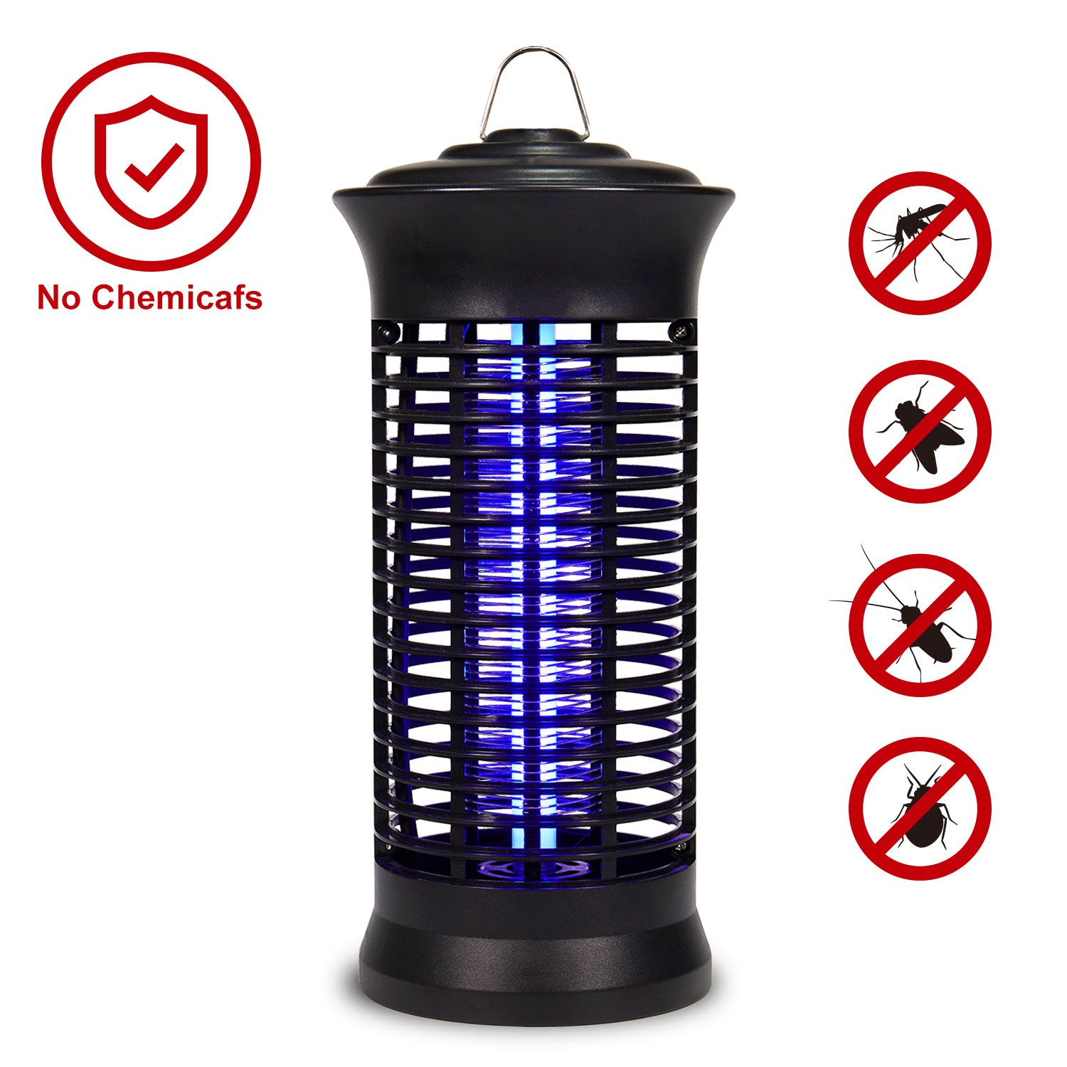 Electric Indoor Bug Zapper,Mosquito Killer, Insect and Fly Zapper Catcher Killer Trap with UV Bug Light with Large Coverage 100% Safety for Home, Office and Patio indoor use by AFBEST