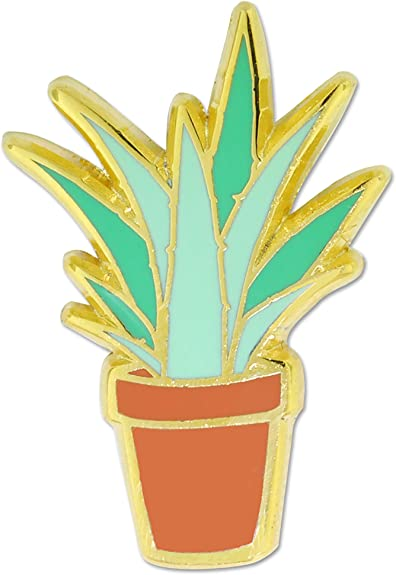 PinMart/'s Cute Aloe Plant Trendy Enamel Lapel Pin
