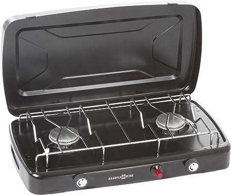 BRUNNER Phoenix - Hornillo de gas para camping (2 quemadores ...