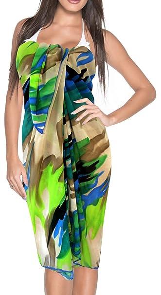 73a64d10da LA LEELA Women's Swimsuit Cover Up Sarong Bikini Swimwear Beach Cover-Ups  Wrap Skirt Large Maxi AH at Amazon Women's Clothing store: