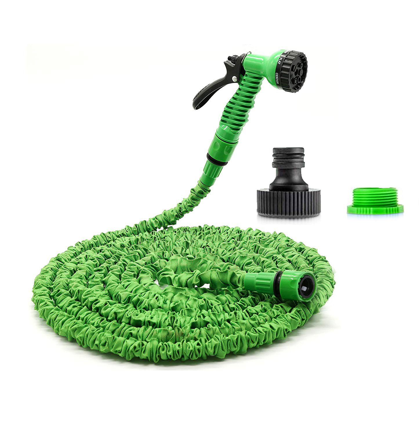 ENCEEN Expandable 50FT Garden Hose Pipe Flexbile Water Pipe with 7-pattern Spray Gun for Watering Garden Cars Pets Plants