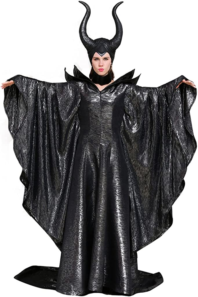 CosplayDiy Women's Costumes of Maleficent Angelina Jolie Dark Witch Queen Dress