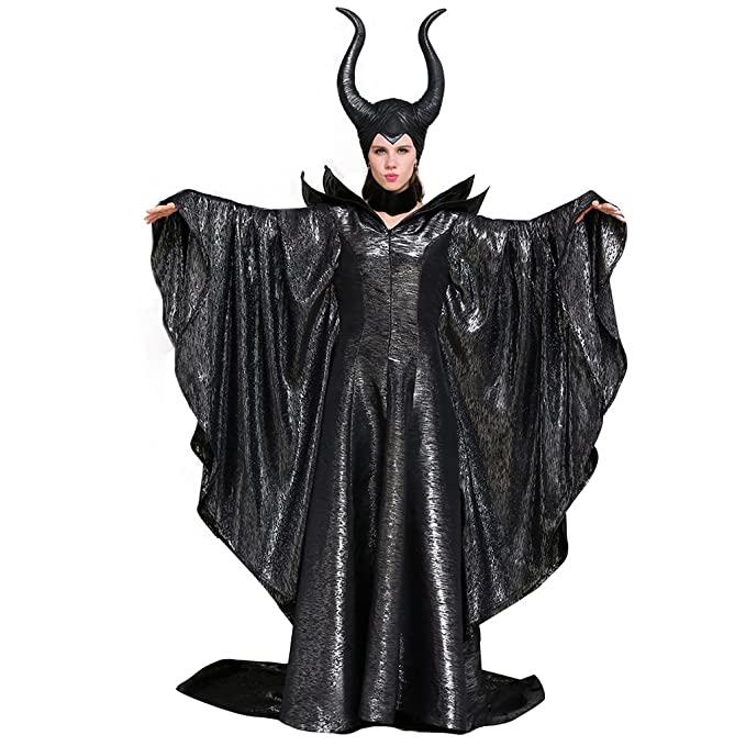 Cosplaydiy Women S Costumes Of Maleficent Angelina Jolie Dark Witch Queen Dress