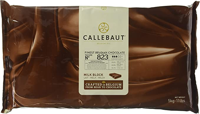Callebaut 33,6% Bloque de Chocolate con Leche (pack) 5kg: Amazon ...