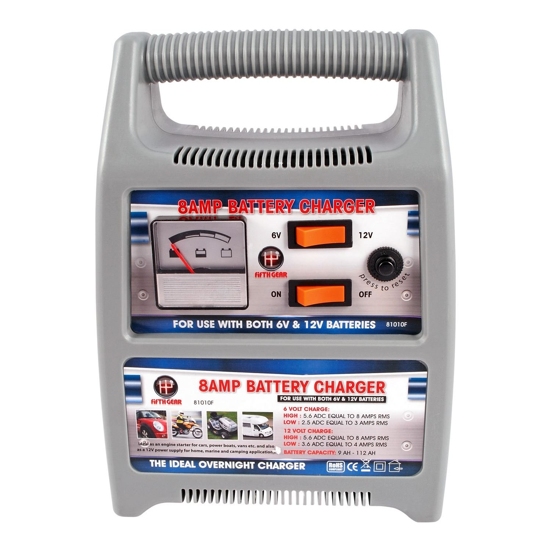 Cargador de batería para auto, marca FIFTH GEAR, de 8 ...