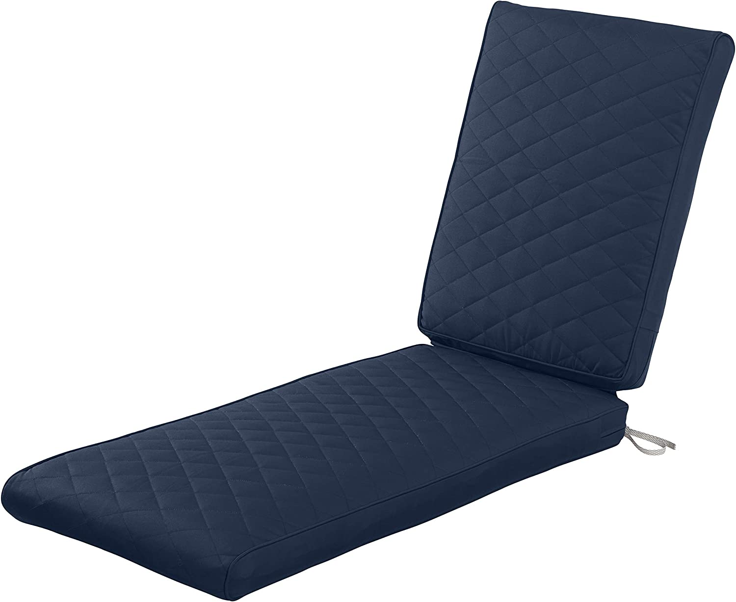 Classic Accessories Montlake Water-Resistant 80 x 26 x 3 Inch Rectangle Patio Quilted Chaise Lounge Cushion, Navy