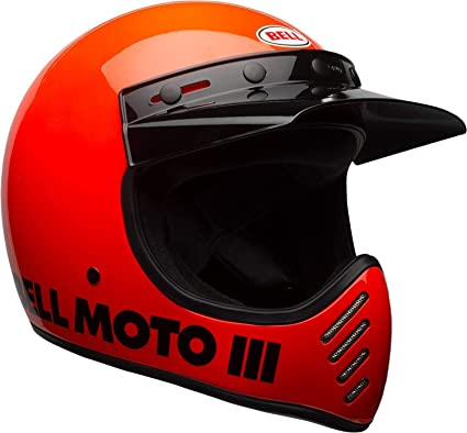 Bell Moto-3 Off-Road Motorcycle Helmet (Classic Gloss Hi-Viz Orange