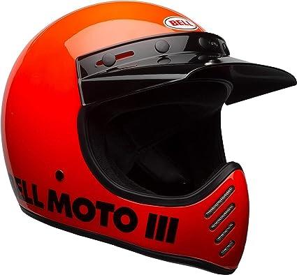 Bell Moto-3 Off-Road Motorcycle Helmet (Classic Gloss Hi-Viz Orange