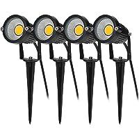 BLOOMWIN 4PCS Foco Proyector Exterior Foco COB LED con Estaca Lámpara Luz Blanco…