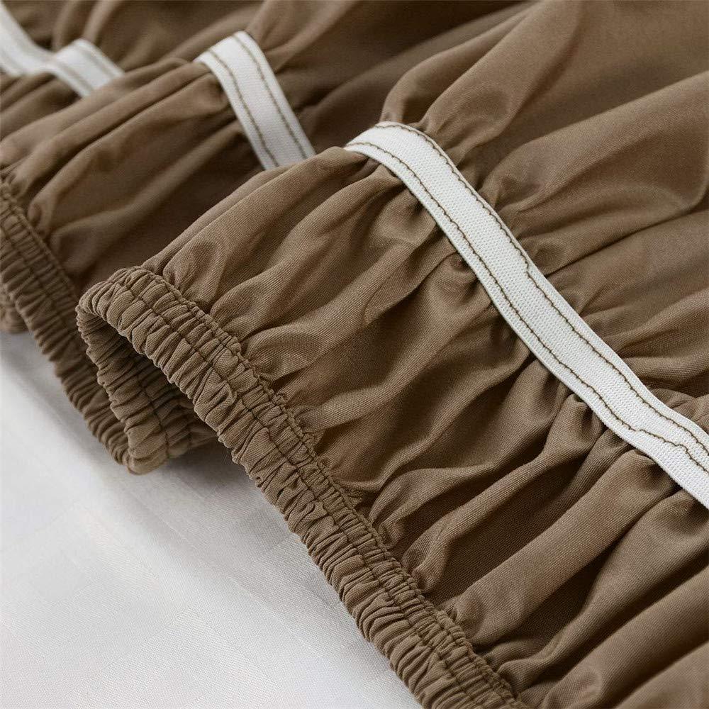 Marine,100x190cm Volants /élastiques Anti-poussi/ère D/étachables /à Trois C/ôt/és en Tissu Easy Fit Rides ? avec 38 Cm LINGKY Jupe De Lit en Polyester Bross/é
