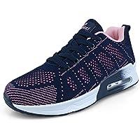Minbei Dames Sneakers Lichtgewicht Ademend Hardloopschoenen voor Womens Zwart Blauw Wit Paars Roze