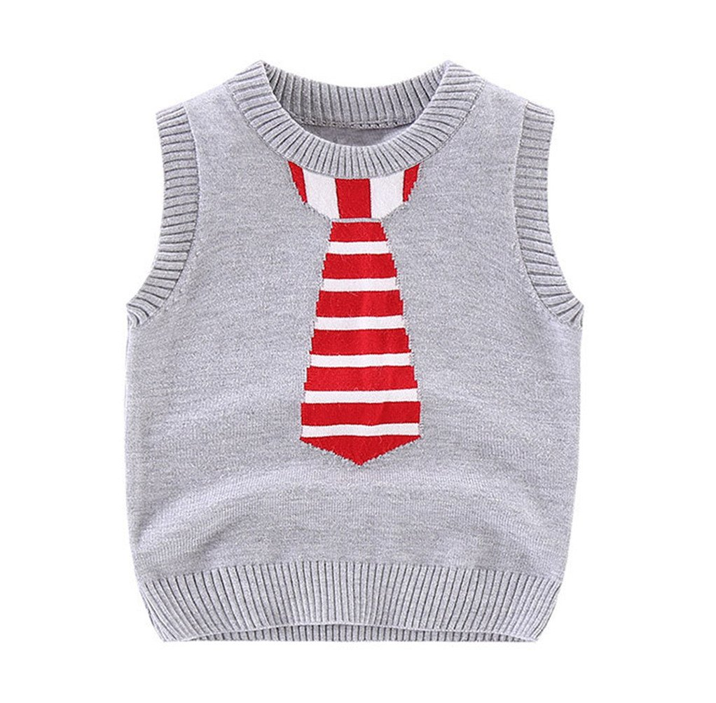 Mrsrui Boys Kid Sweater Vest School Uniforms Pullover Sweaters Knitted Sleeveless Tank Clothes