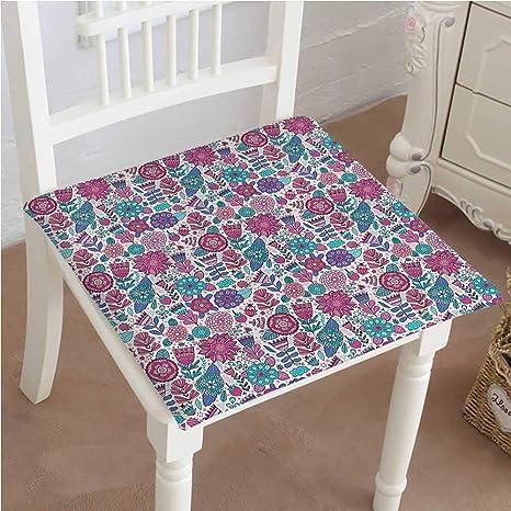 Amazon.com: Cojín para silla de exterior, ramas florales con ...
