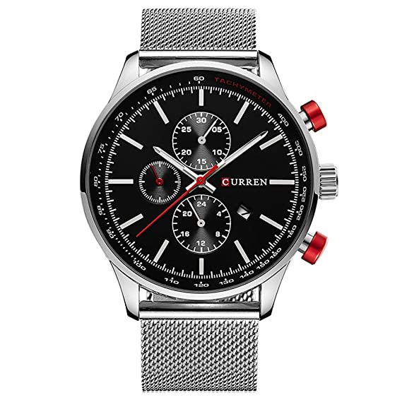 CURREN Watches Mens Brand Luxury Stainless Steel Quartz Watch Men Casual Waterproof Clock Men Sport Wristwatch