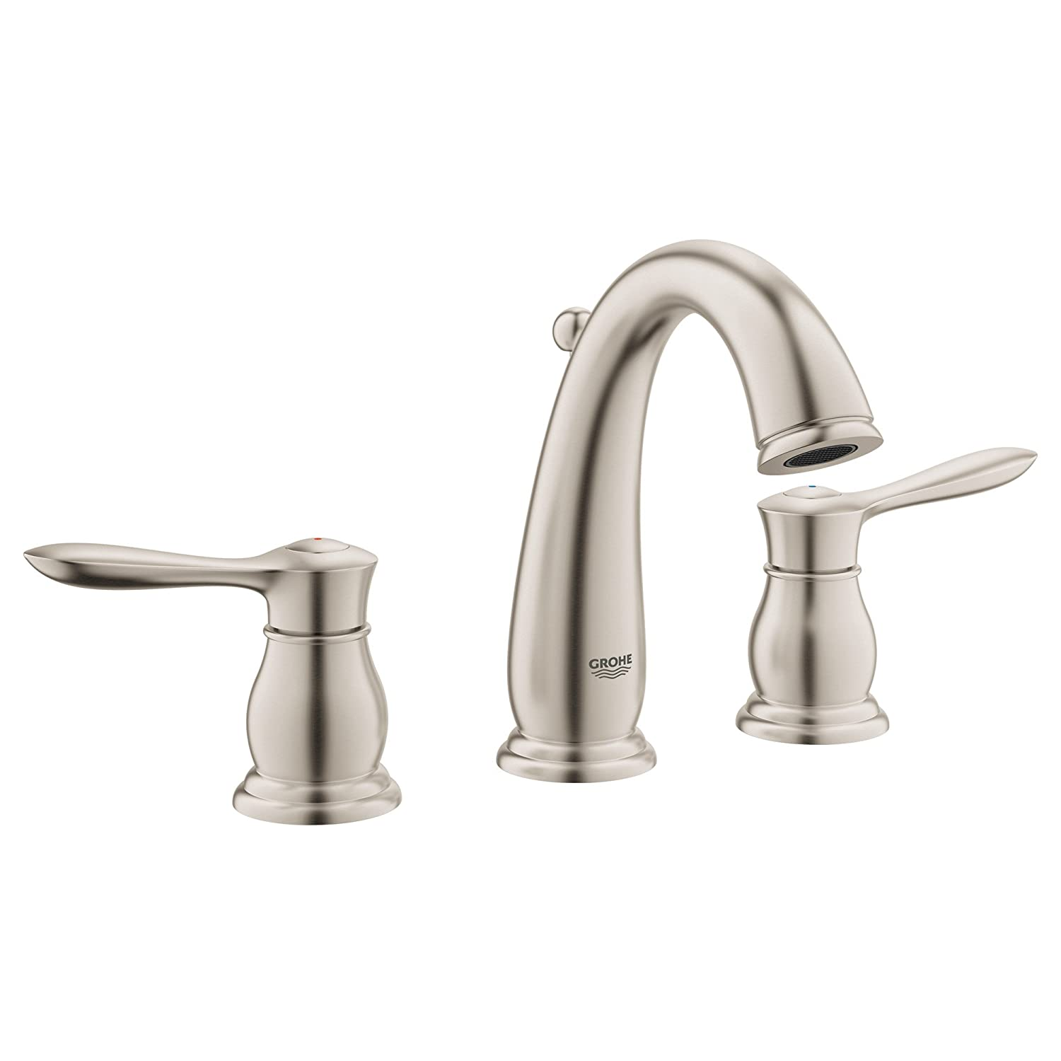 p faucets spotshield single in sp handle nickel delta polished brushed rila faucet bathroom centerset sink