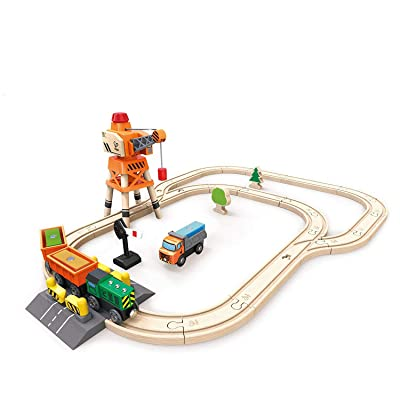Hape Railway Crane & Cargo Train Set: Toys & Games