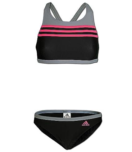 adidas i 3s 2pc schwarz grau rosa damen badeanzug infinitex