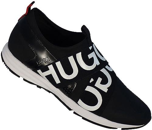 Hugo BOSS Hugo Zapatillas Sin Cordones con Logo Cruzado Gomas 50383767 Híbrido Runn MX1 - Negro, 8 UK: Amazon.es: Zapatos y complementos